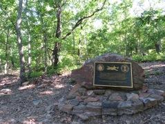 Crash site memorial plaque