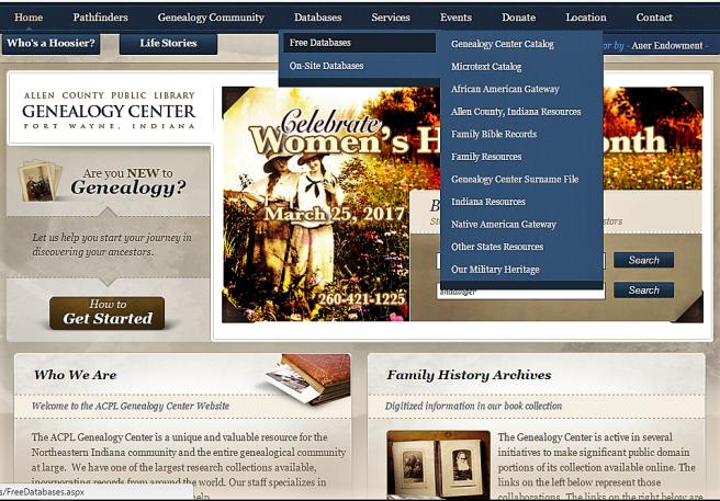 GC webpage